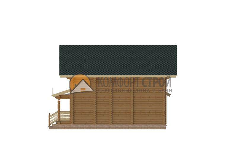 Дом 115.26 м 2 9.85 х 10.5 по проекту ДУБНА фасад