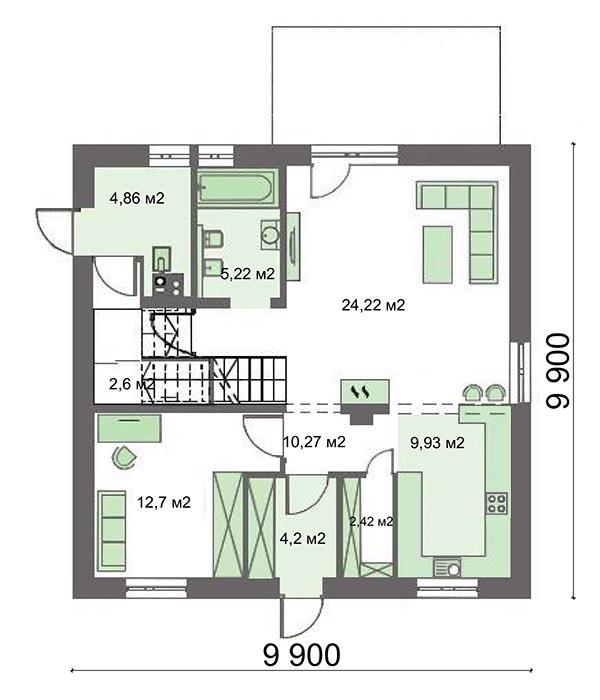 Проект дома 4m734 план