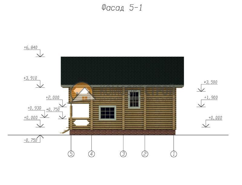Дом 138.3 м2 8х10 по проекту БРОННИЦЫ фасад