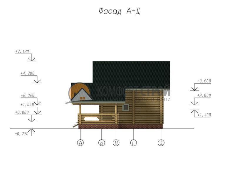ДОМ 111.57 м 2 9.4 Х 10.1 по проекту АГЕЕВО фасад