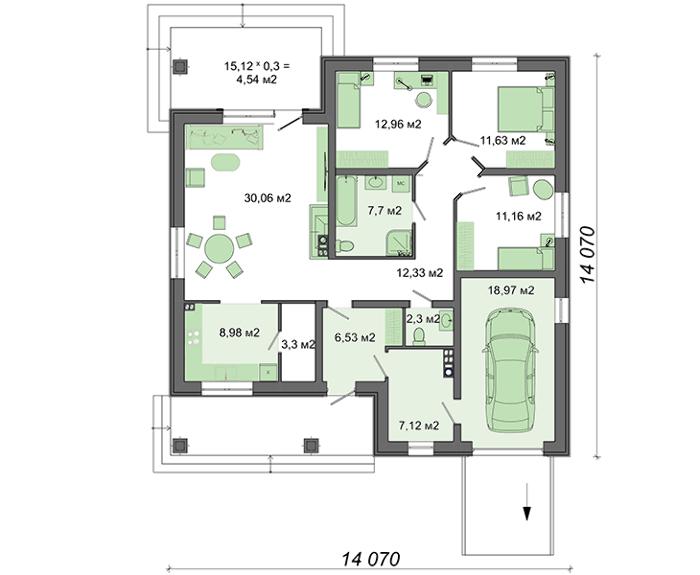 Проект дома 4m796 план