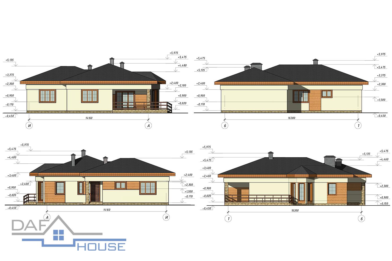 Проект А5454 фасад