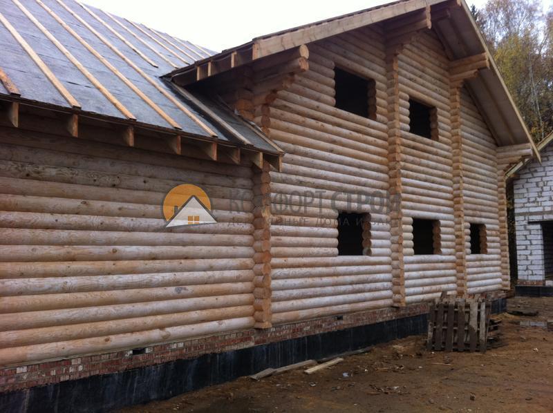 Дом 380 м2 15х17 построенный по проекту КОМФОРТНЫЙ фасад
