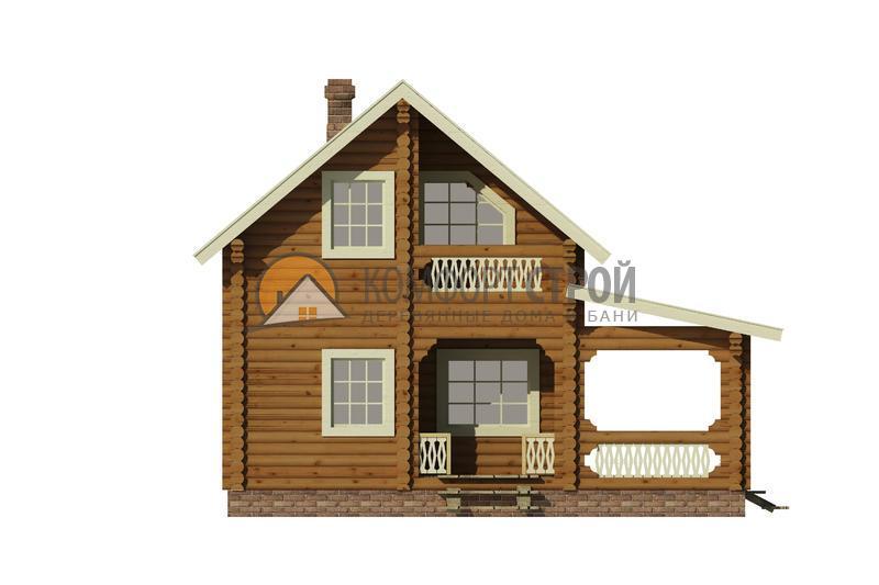 Дом-баня 80 м2 7.8х8.25 по проекту КЛЯЗЬМА фасад