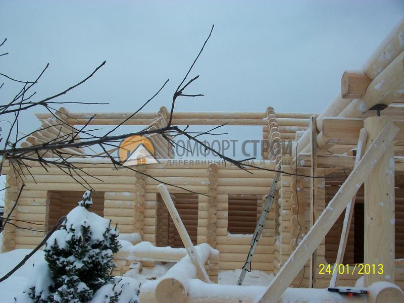 Дом-баня 87.65 м2 12х12 по проекту ГАРМОНИЯ фасад