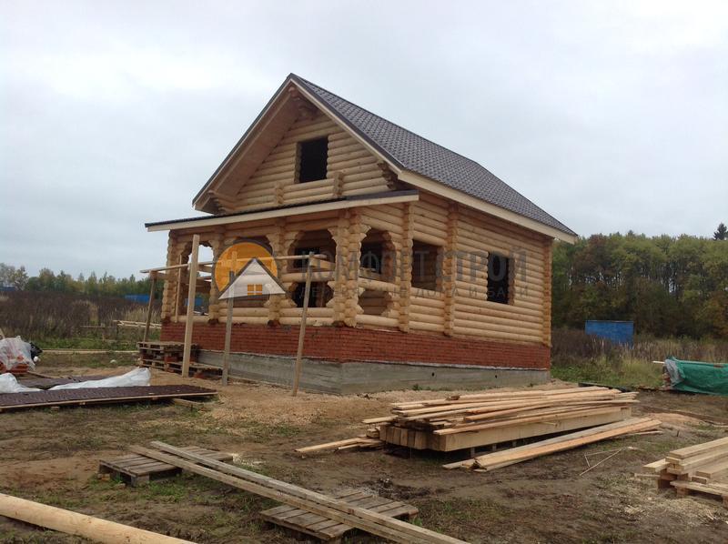 Дом-баня 90.11 м2 6.2х9.05 по проекту УЮТНАЯ  фасад