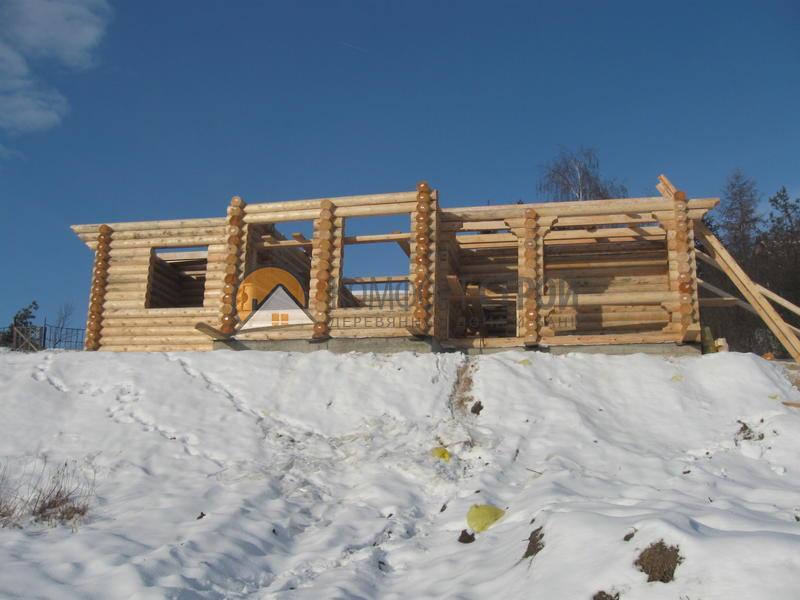 Дом-баня 110 кв.м 10х12 по проекту ВОРОНЕЖ фасад
