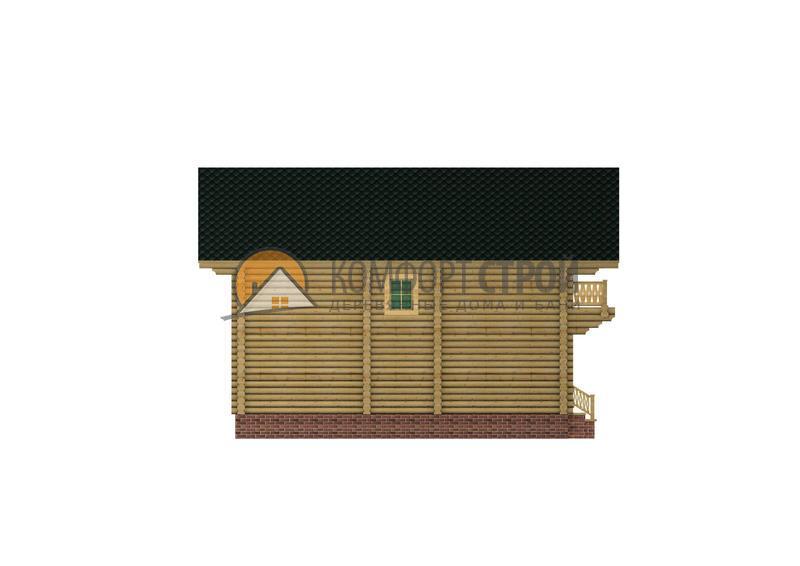 Дом-баня 113.65 м2 7.33х10 по проекту СИМФЕРОПОЛЬ фасад