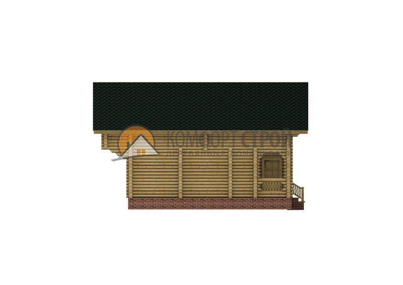 Дом-баня 126.68 м2 7.4х9.5 по проекту УДАЧНЫЙ фасад