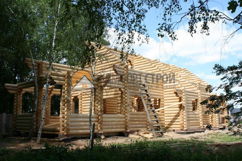 Дом-баня 153.21 м2 7.4х16.6 по проекту ПЯТНИЦКАЯ фасад