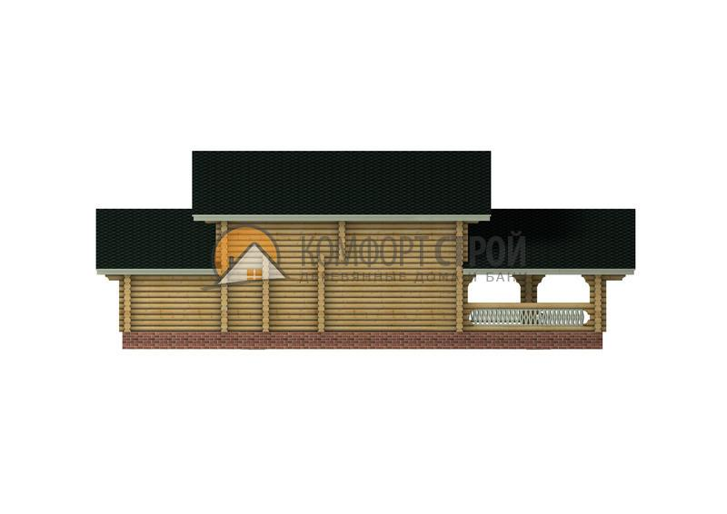 Дом-баня 203.69 м2 11х15 по проекту АНТОНИНА фасад
