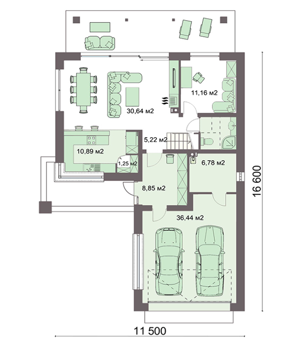 Проект дома 4m748 план