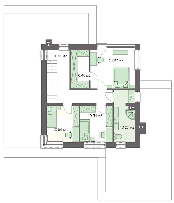 Проект дома 4m738 план