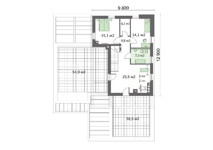 Проект дома 4m714 план