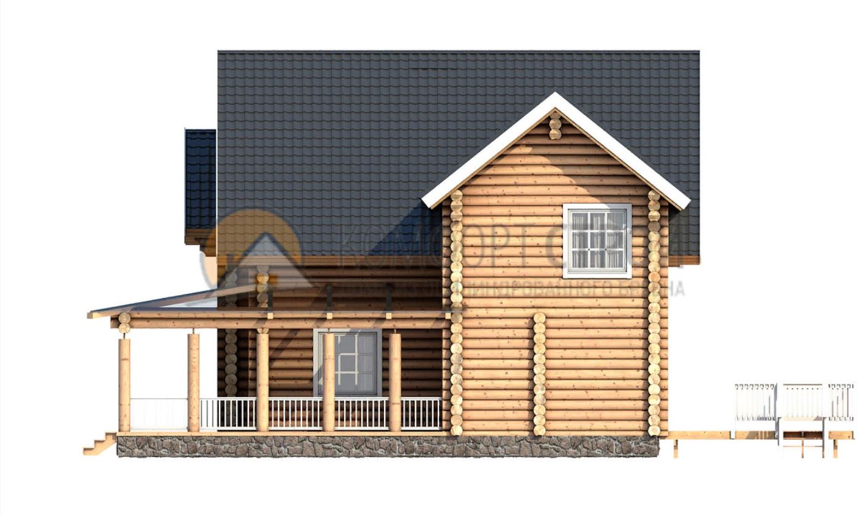 Дом 264.9 м2 13.2х13.4 по проекту КУДРИН фасад