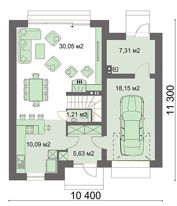 Проект дома 4m771 план