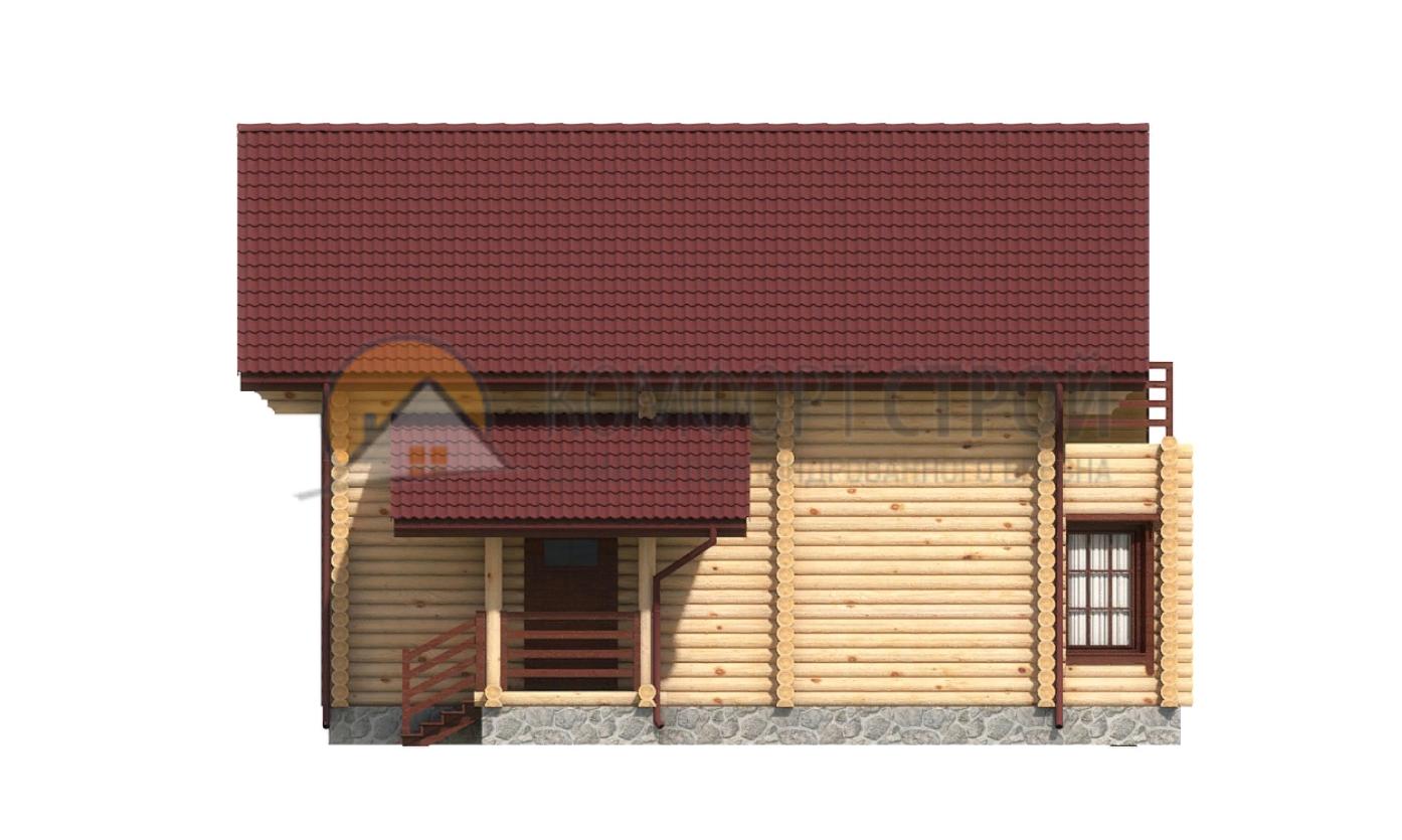Дом 148.1 м2 10.8х13 по проекту ЗАОКСКИЙ  фасад