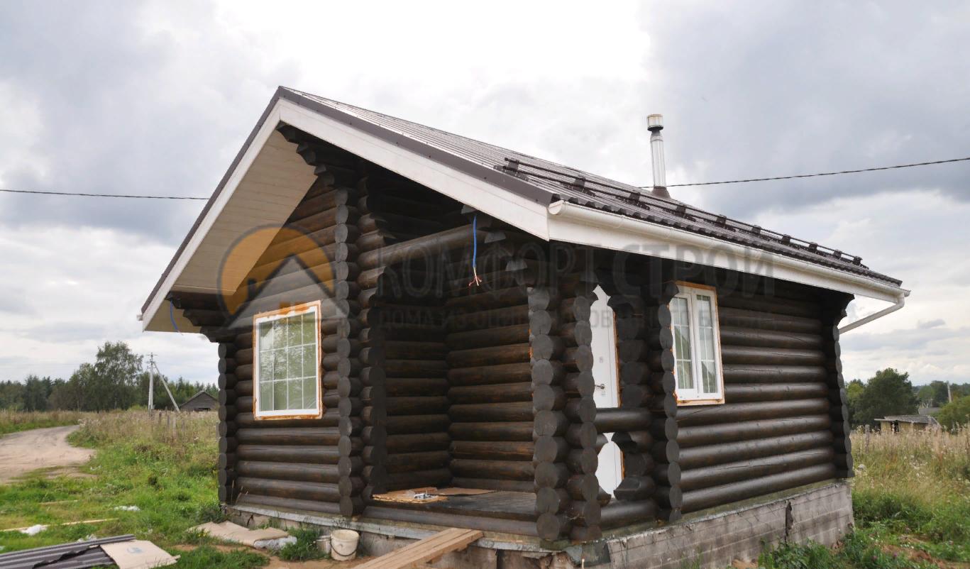Дом 27.1м2 5.5х5.5 по проекту ДОМИК СТОРОЖА фасад