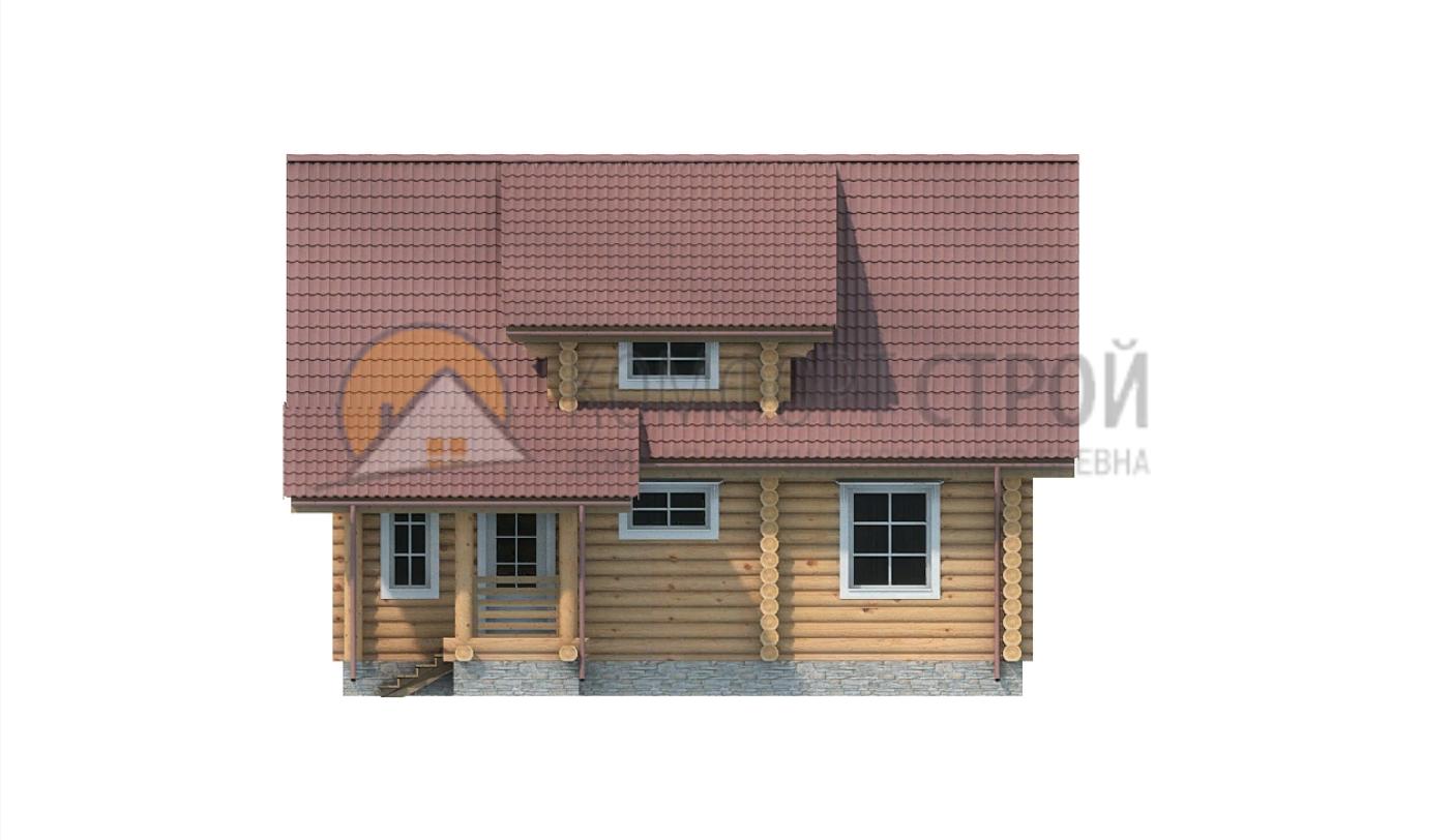 Дом 110.4 м2 8.14х9.5 по проекту ГОЛИЦИНО фасад