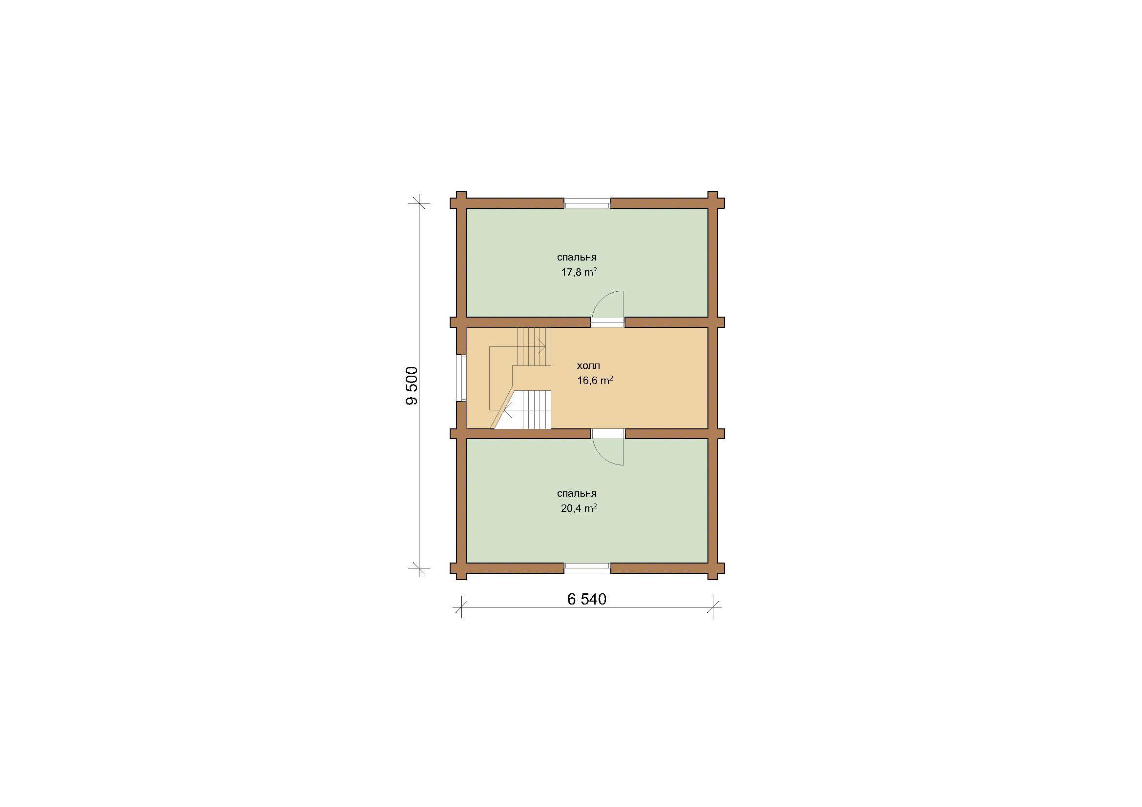 Дом 110.4 м2 8.14х9.5 по проекту ГОЛИЦИНО план