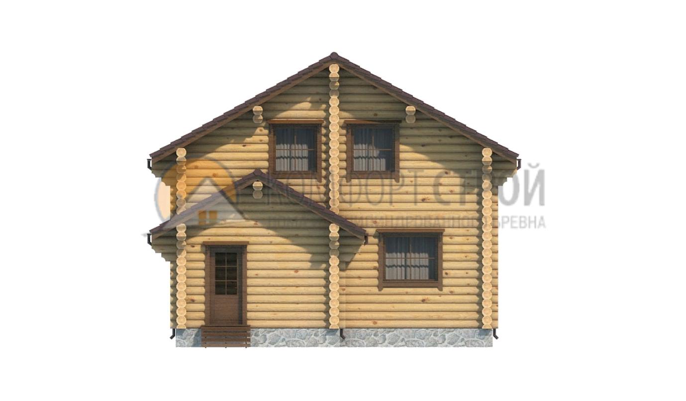 Дом 116.11 м2 8.2х9.8 по проекту АПРЕЛЕВКА  фасад