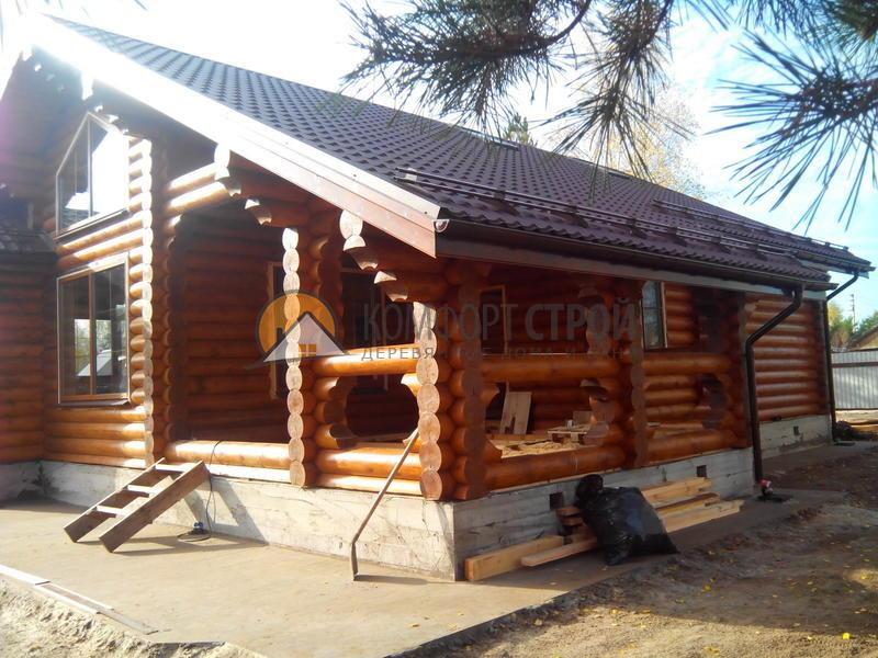 Дом 122.7 м2 11.8х11.8 по проекту ЭЛЕКТРОГОРСК  фасад