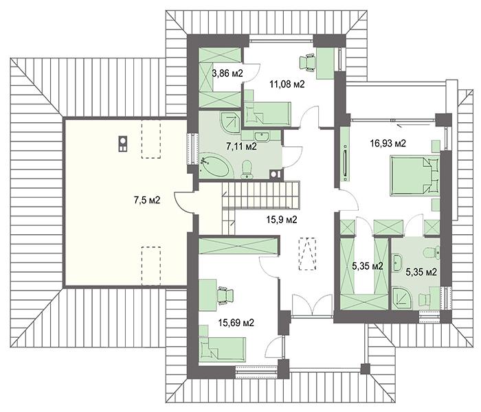 Проект дома 4m770 план