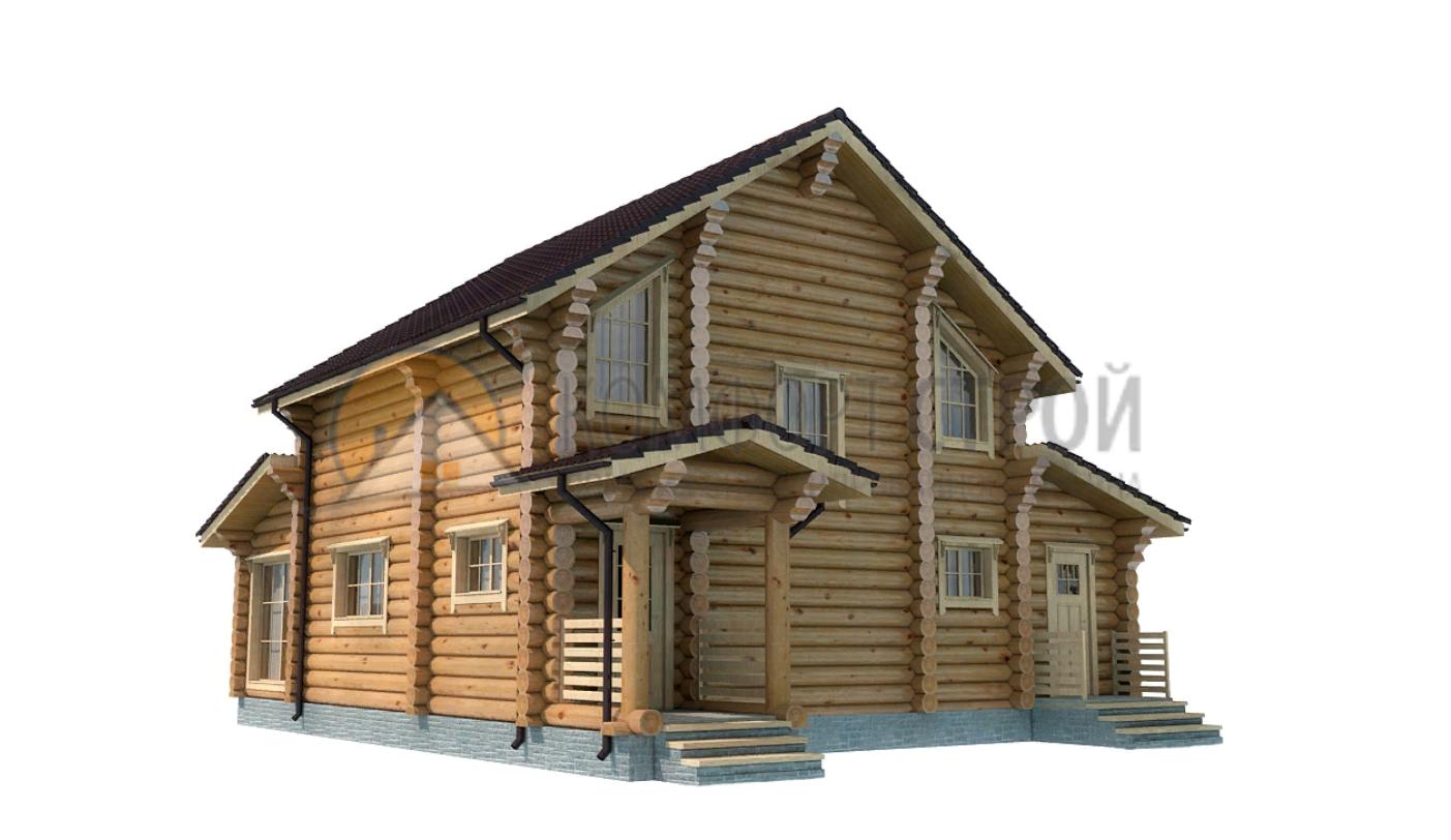 Дом 155.95 м2 10.5х15.3 по проекту АЗАТСКИЙ фасад