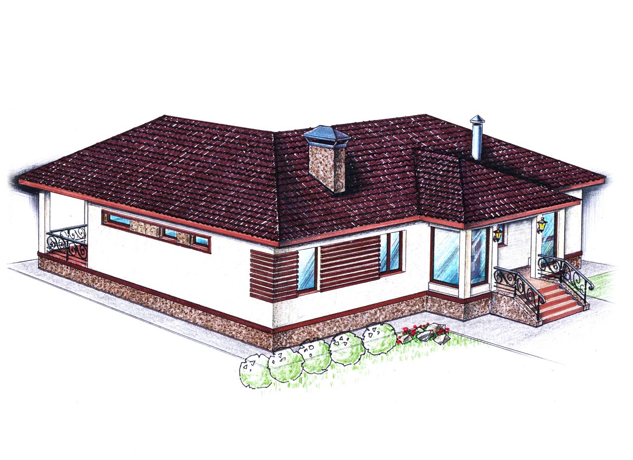 "Проект ""Иж-335""  Проект одноэтажного дома фасад"