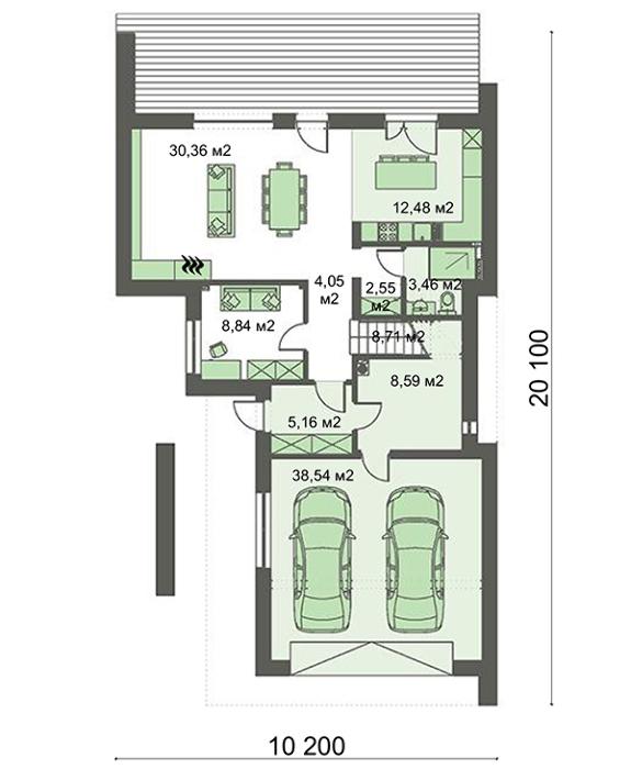 Проект дома 4m425 план