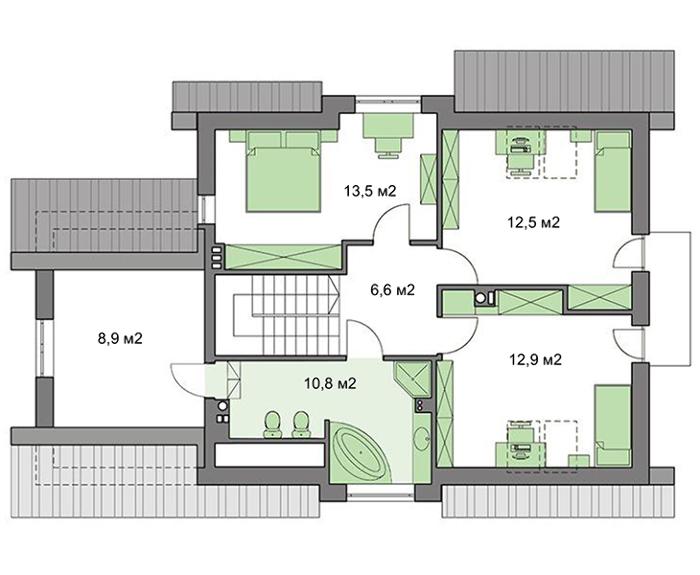 Проект дома 4m435 план