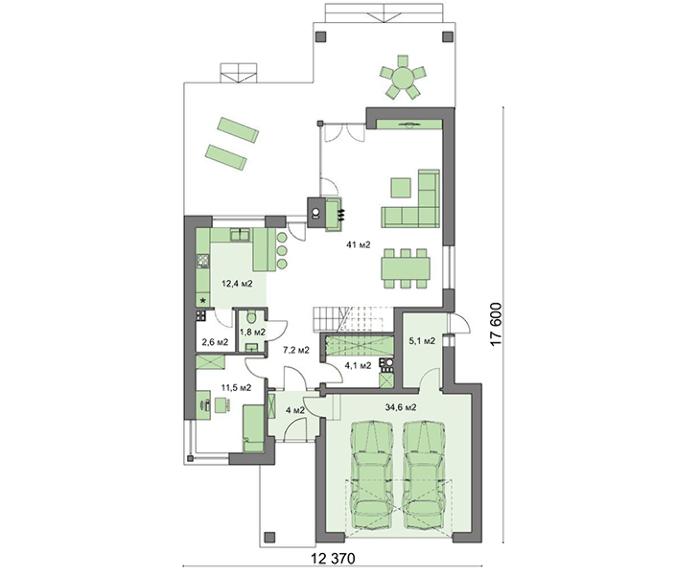 Проект дома 4m515 план