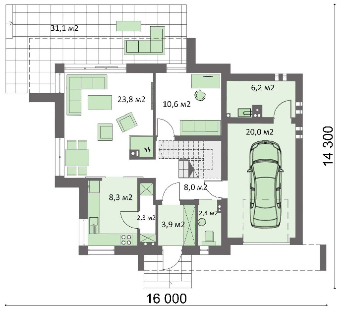 Проект дома 4m717 план