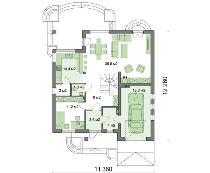 Проект дома 4m497 план