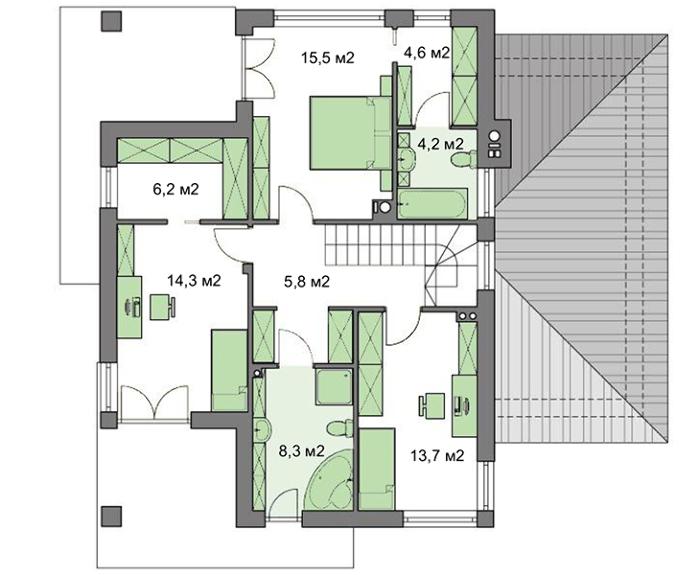 Проект дома 4m499 план