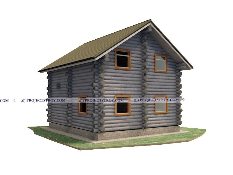 Деревянный дом до 100 кв. м фасад