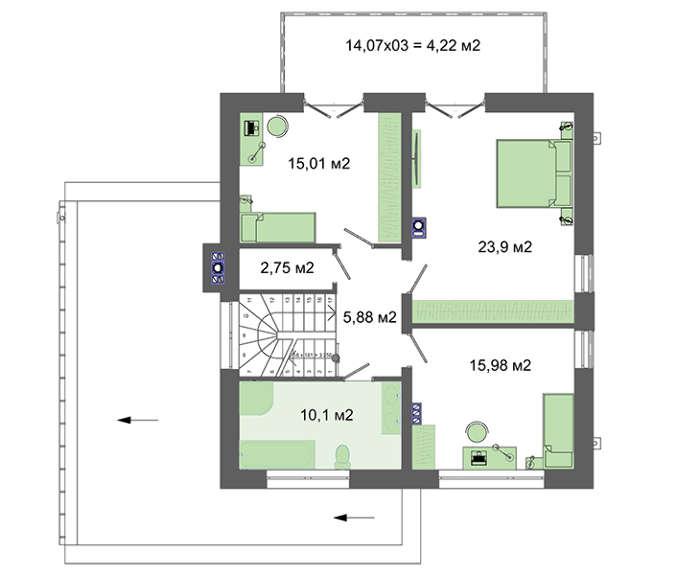 Проект дома 4m758 план