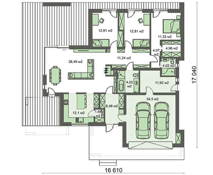 Проект дома 4m427 план