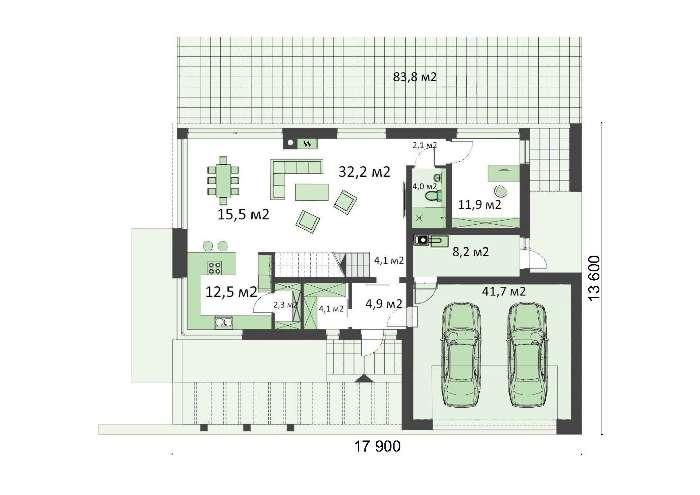 Проект дома 4m703 план