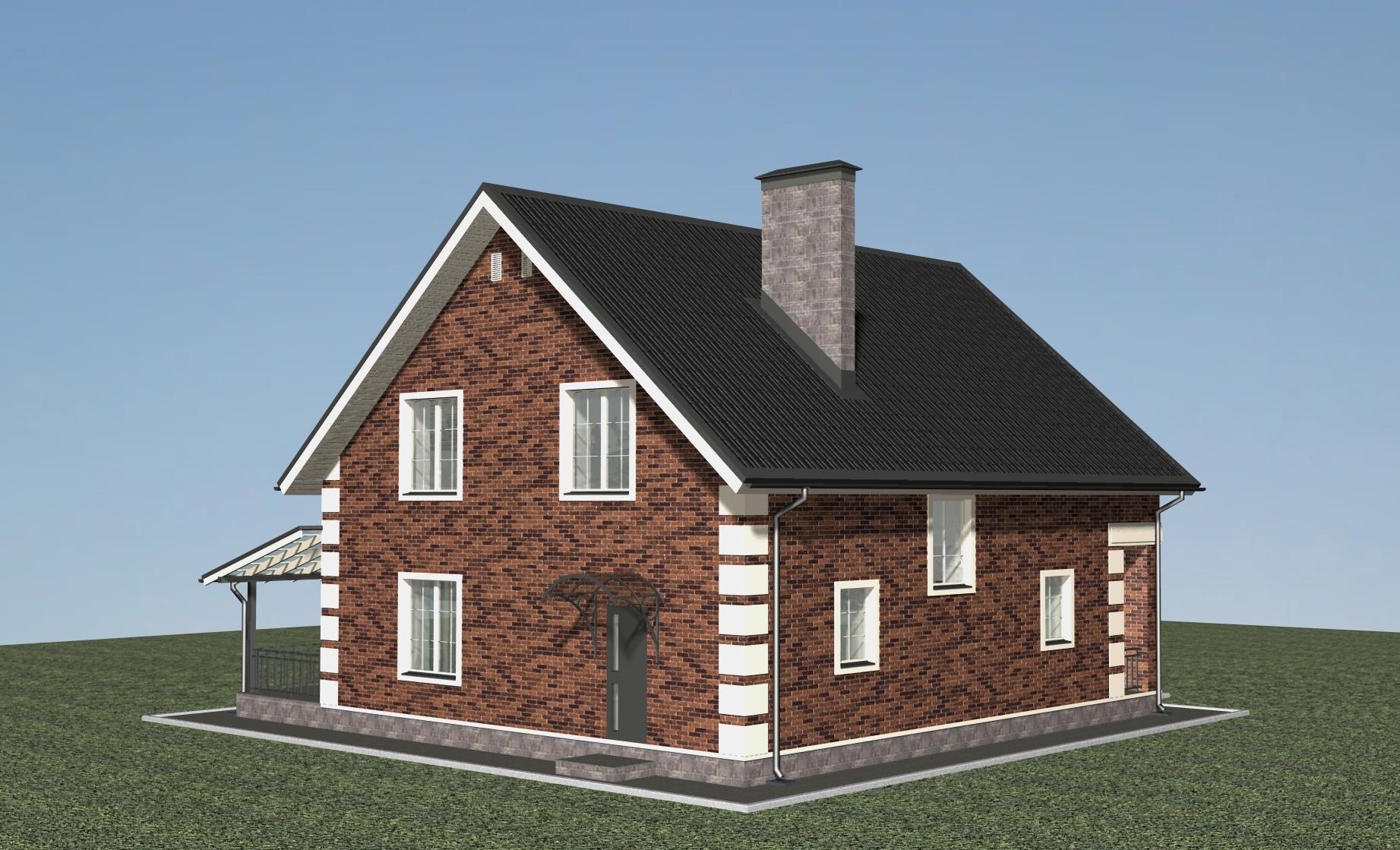 Проект дома Н-09-23 фасад