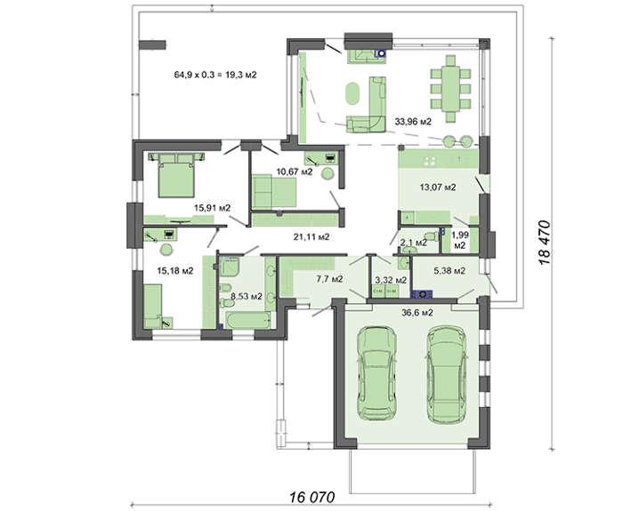 Проект дома 4m719 план