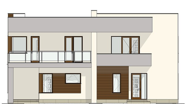 Проект дома 4m541 фасад
