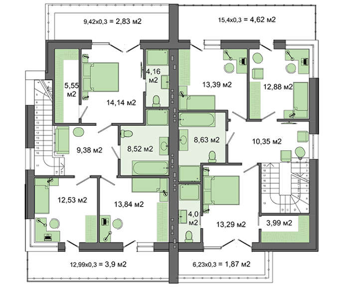 Проект дома 4m541 план