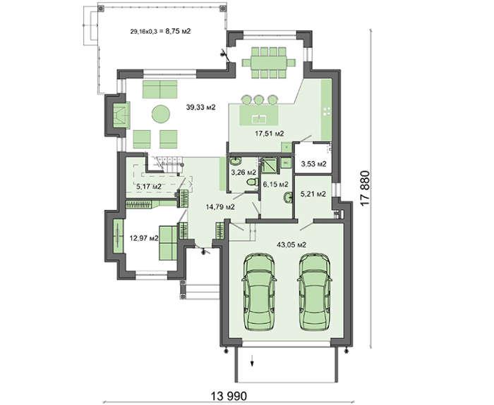 Проект дома 4m549 план