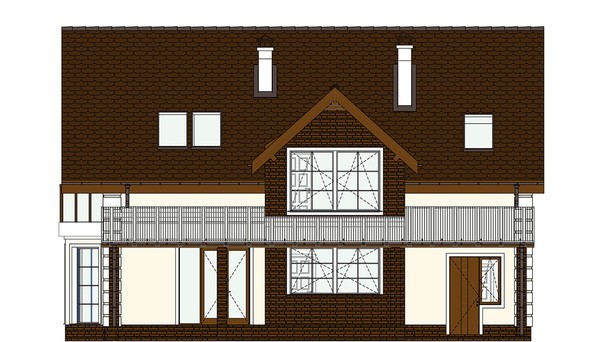 Проект дома 4m543 фасад