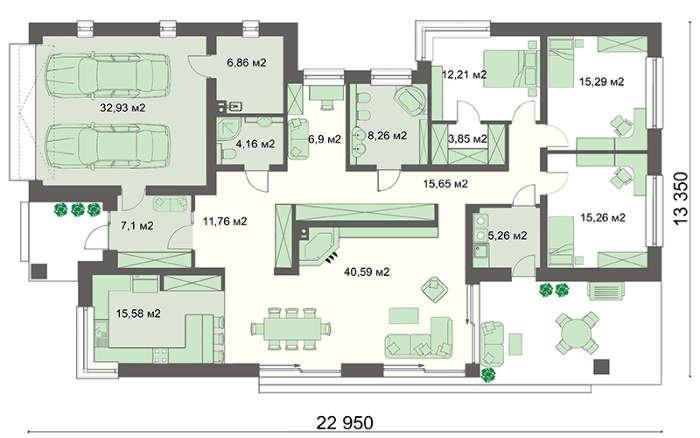 Проект дома 4m755 план