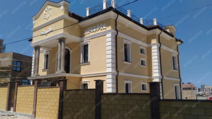 Фасадная лепнина Стильный дом недорого