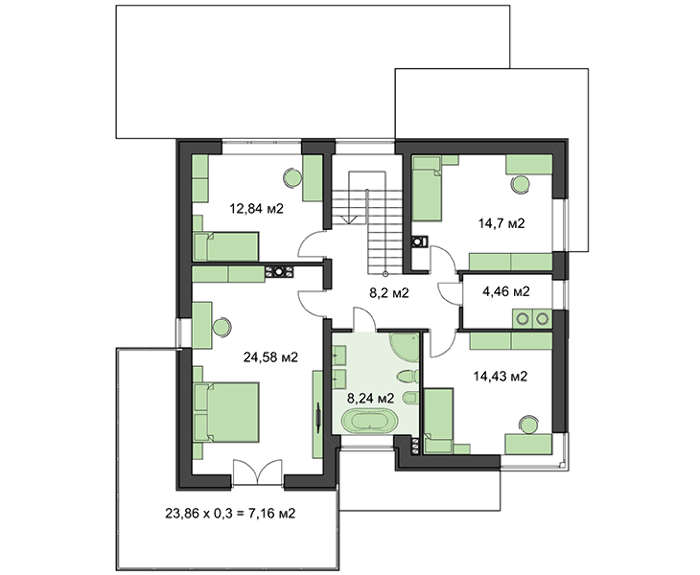 Проект дома 4m784 план