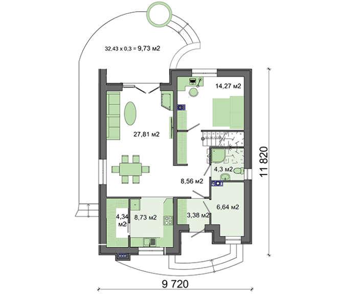 Проект дома 4m391 план