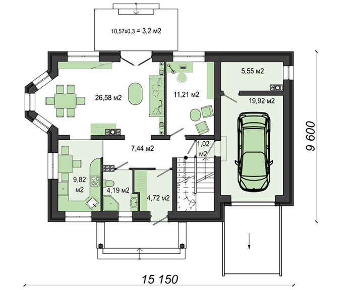 Проект дома 4m553 план